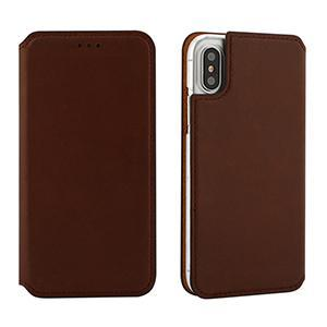 Brown Leather Flip Cover Cell Phone Case Apple iPhone X Case